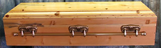 veterans military casket - with folding metal handles.